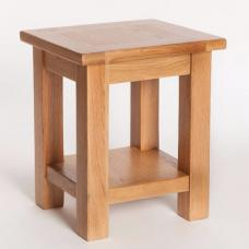 Lexington Wooden End Table In Oak With Undershelf