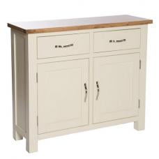 Lexington Compact Wooden Sideboard In Ivory With Storage