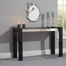 Lexus Glass Console Table Rectangular In High Gloss Black
