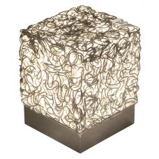 Wire Light Cube in Silver