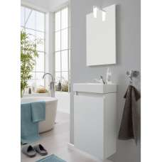 Liano Bathroom Furniture Set In White With Basin And LED