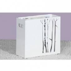 Linea Magazine Rack In High Gloss White