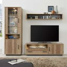 Logan Living Room Set 1 In Bramberg Spruce With LED Lighting