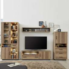 Logan Living Room Set 2 In Bramberg Spruce With LED Lighting