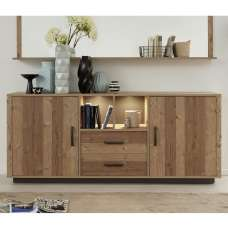 Logan Wooden Sideboard In Bramberg Spruce With 2 Doors And LED