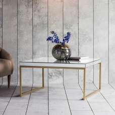 Lombok Mirrored Coffee Table Square In Champagne