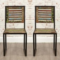 London Urban Chic Wooden Dining Chair In A Pair