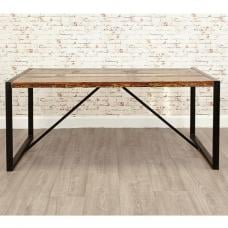 London Urban Chic Wooden Dining Table With Steel Base