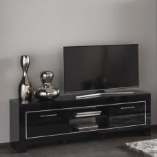 Lorenz Medium TV Stand In Black High Gloss With 2 Doors