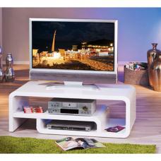 Lorenzo High Gloss Tv Stand In White