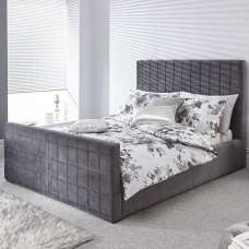 Luckey Upholstered Ottoman Storage Bed In Grey