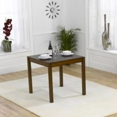 Luzern Wooden Dining Table Square In Dark Oak