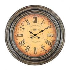 Maderian Wall Clock Round In Metal Effect
