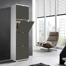 Madison Large Shoe Storage Cabinet With Basalt Grey Fronts
