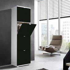 Madison Large Shoe Storage Cabinet With Matt Black Fronts