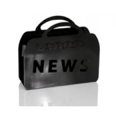 News Black Magazine Rack