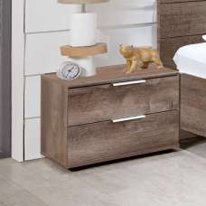 Mantova Wooden Bedside Cabinet In Muddy Oak Effect