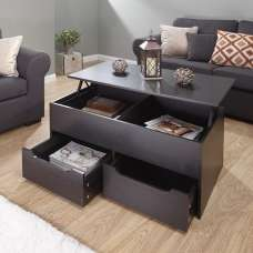 Marcello Storage Coffee Table In Espresso With Lift Up Top