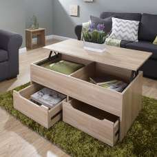 Marcello Storage Coffee Table In Oak With Lift Up Top