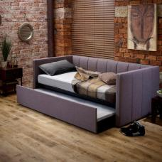 Marcello Modern Fabric Sofa Bed In Grey With Drawer