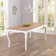 Marco Wooden Dining Table Rectangular In Acacia And Ivory
