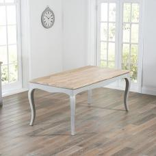 Marco Wooden Dining Table Rectangular In Acacia And Grey