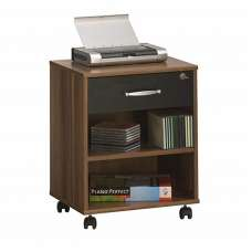 Marconie Wooden Office Cabinet In Walnut And Black