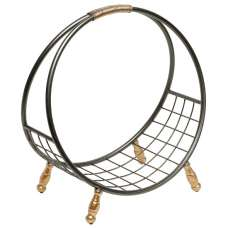 Mariella Contemporary Magazine Rack In Black And Gold