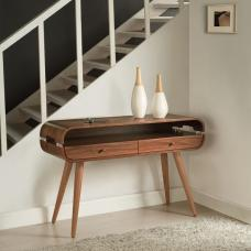 Marin Console Table In Walnut With Solid Ash Spindle Shape Legs