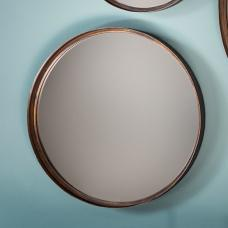 Marion Decorative Round Wall Mirror Medium In Bronze