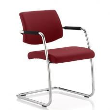Marisa Office Chair In Chilli With Cantilever Frame