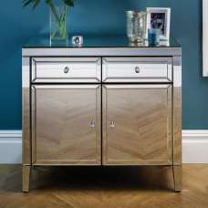 Marnie Mirrored Sideboard With 2 Doors And 2 Drawers