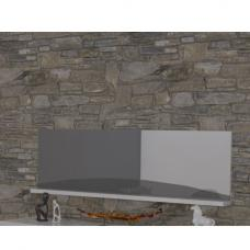 Marquis Wall Mirror Rectangular In Grey And White High Gloss