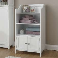 Maxima Wooden Storage Cupboard In White With 2 Doors