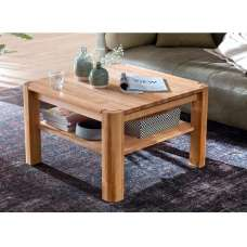 Maxine Wooden Coffee Table Square In Beech Heartwood