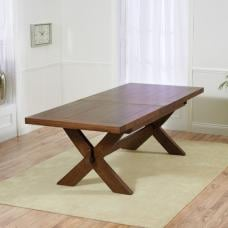 Mayfair Extendable Wooden Dining Table Rectangular In Dark Oak