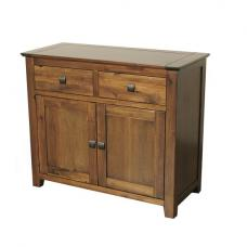 Melania Wooden Sideboard In Solid Acacia With 2 Doors