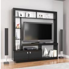 Melrose Modern Entertainment Unit In Black With 2 Doors