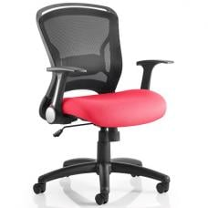 Mendes Contemporary Office Chair In Cherry With Castors