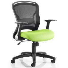 Mendes Contemporary Office Chair In Green With Castors