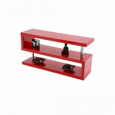 Miami TV Stand Shelving In High Gloss Red