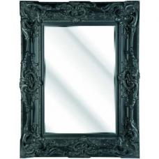 Ornate Black Bevelled Mirror