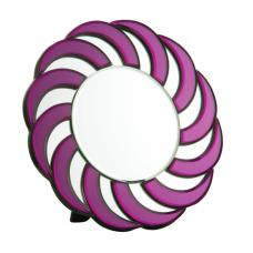 Round Purple frame Wall Mirror