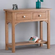 Montana Oak 2 Drawer Console Table
