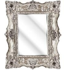 Montigo Ornate Wall Mirror In A Silver Frame