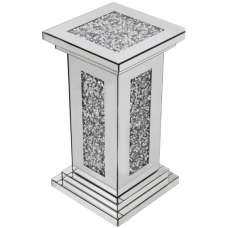 Montrez Mirrored Small Pillar Side Table
