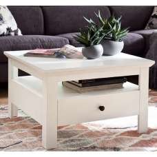 Moreno Wooden Storage Coffee Table In White With 1 Drawer