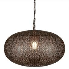 Moroccan 1 Light Large Pendant In Antique Copper