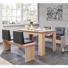 Munich Large Dining Set In Sonoma Oak Dining Benches With Seats