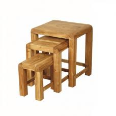 Nancy Nest of 3 Tables In Solid Acacia Wood